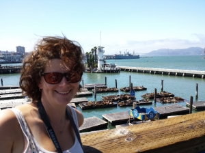 Me with the seals at the harbour