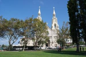 The church where Marilyn and Joe got 'married.