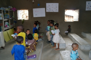 Wee kids in the classroom